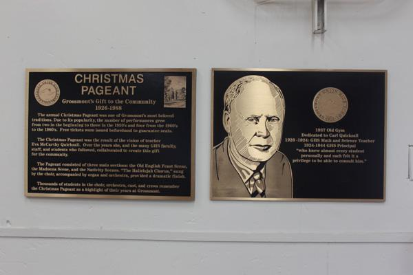 Old Gym Pageant Quicksall Plaques